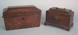 George III mahogany tea caddy ca 1760