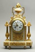 French marble and ormolu shelf clock 19th c