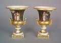 Pair of Paris porcelain urns mid 19th c