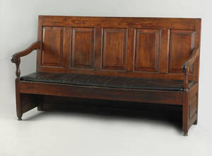 Philadelphia William  Mary walnut settle bench ca 1740