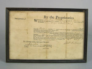 Berks County Pennsylvania land grant dated 1775