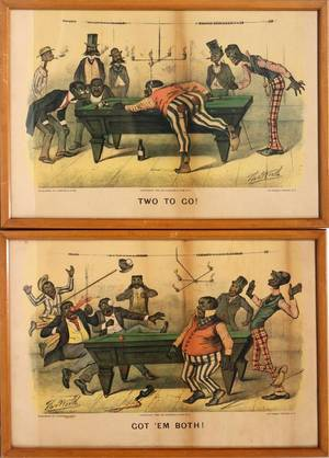 110077 CURRIER  IVES LITHOGRAPHS TWO 10 X 15