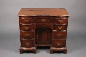 19th Century Mahogany Kneehole Desk
