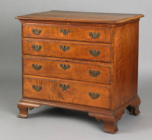 Pennsylvania Chippendale tiger maple chest of drawers ca 1770
