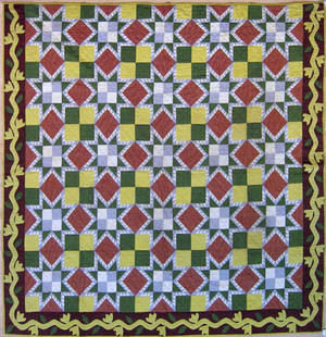 Pennsylvania pieced calico quilt early 20th c