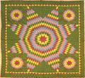 Vibrant star of Bethlehem quilt late 19th c