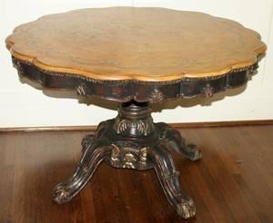 081126 ENGLISH WALNUT PEDESTAL TABLE H 28 DIA 44