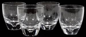 081122 STEUBEN GLASS TUMBLERS SET OF TWELVE H 3 14
