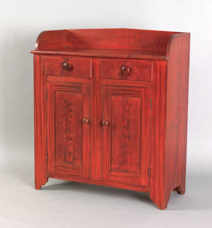 Pennsylvania painted poplar jelly cupboard 19th c