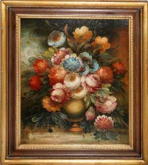 062111 PIERRY OIL ON CANVAS 20 X 24 STILL LIFE