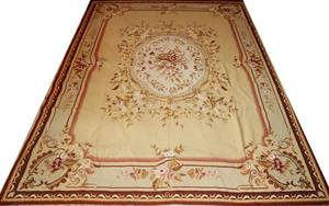 112199 AUBUSSON NEEDLEPOINT RUG SEMIANTIQUE 12 X 7