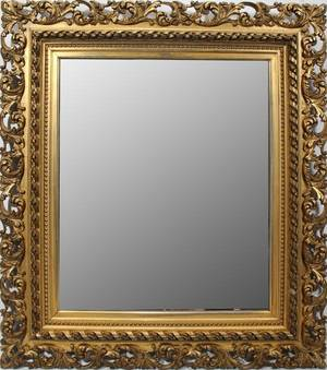 GILT WOOD  GESSO MIRROR H 43 W 38