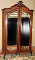 090134 FRENCH STYLE MAHOGANY ARMOIRE H 100 W 61