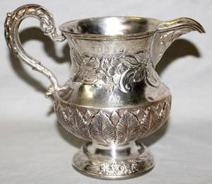 081210 GEORGE III SILVER CREAMER 18TH C H 4 34