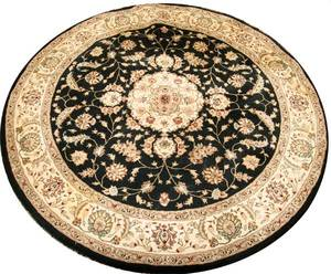 080194 NOURISON HAND MADE WOOL ROUND RUG CONTEMPORARY