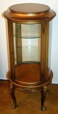 070151 FRENCH GILT WOODGLASS CURIO CABINET C196070