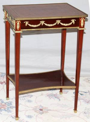 111288 FRENCH DIRECTOIRE FRUITWOOD SIDE TABLE H 29