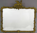 Giltwood over mantle looking glass