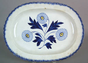 Leeds feather edge platter early 19th c