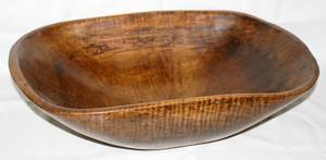 061309 AMERICAN PRIMITIVE WOOD DOUGH BOWL 19TH C