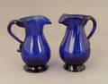 Two cobalt glass creamers ca 1830