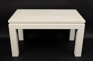 Off White Alligator Embossed Table