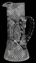 CUT CRYSTAL WATER PITCHER H 12 W 7