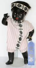 091319 COMPOSITION BLACK BABY DOLL EARLY 20TH C L 20