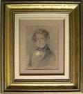Two English watercolor portraits