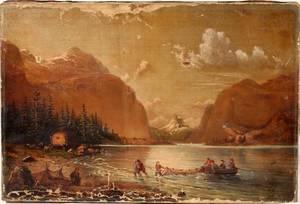 102317 AMERICAN OIL PAINTING CIRCA 1880 12 X 18