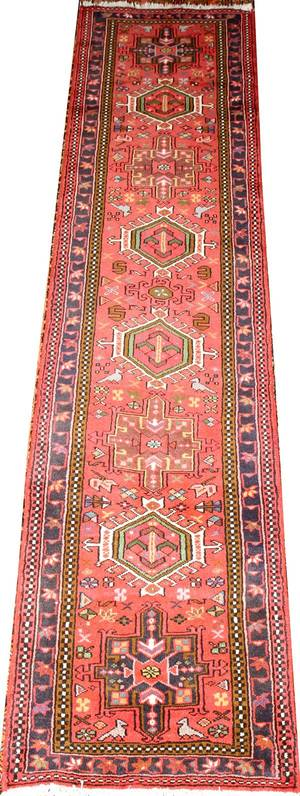 HERIZ PERSIAN RUNNER 9 9 X 2 2