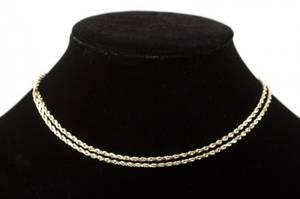 14k Yellow Gold 30 Rope Chain