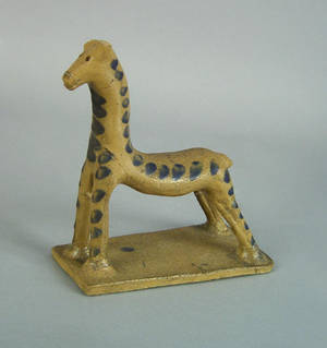 Rare Johnstown Pennsylvania stoneware figure of a horse mid 19th c