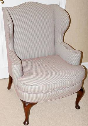 090301 QUEEN ANNE STYLE WING BACK CHAIR