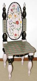 082272 TRACY PORTER DECORATED WOOD SIDE CHAIR H 44