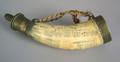 English scrimshaw powder horn early 19th c