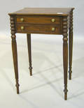 Hepplewhite style mahogany work table