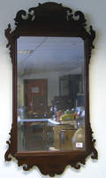 Chippendale mahogany looking glass