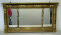 Giltwood overmantle mirror