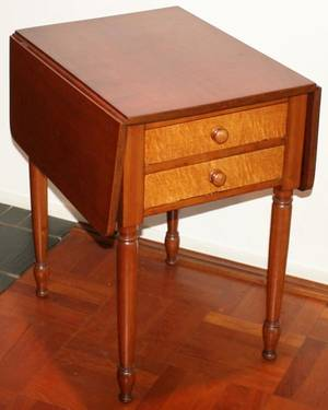 080363 AMERICAN MAPLE  CHERRY DROP LEAF TABLE