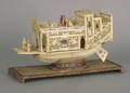 Chinese carved ivory ship model