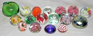 110388 BLOWN GLASS PAPERWEIGHTS BY VARIOUS MAKERS