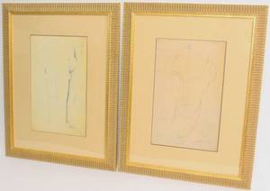 Two Figural Prints After Modigliani