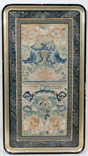 080414 CHINESE SILK EMBROIDERY H 22 12 W 12