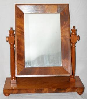 061446 AMERICAN EMPIRE MAHOGANY DRESSING MIRROR H 30