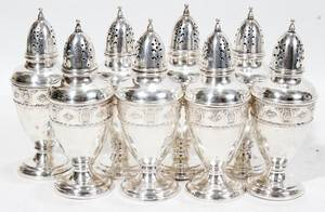 112434 WALLACE STERLING SILVER SALT  PEPPER SHAKERS