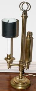 072425 BRASS TABLE LAMP WITH PAPER SHADE H 20