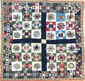 Pieced crib quilt late 19th c