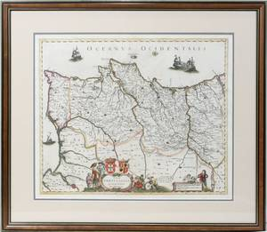 062472 FREDERICK DE WIT HAND COLORED MAP 18 X 22