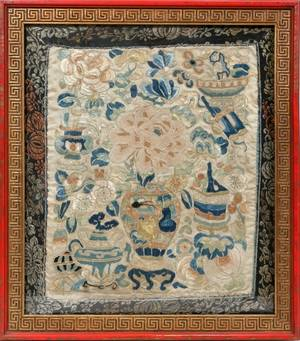 061544 CHINESE SILK EMBROIDERY 19TH C FRAGMENT 11